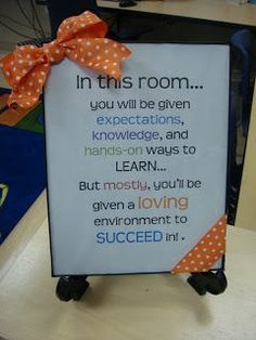 Room to Bloom in 3rd Grade: Classroom setup