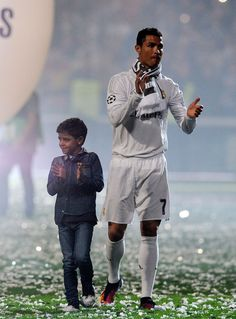 Mini Ronaldo and his Dad