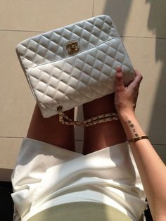 White Chanel! Find your classic vintage chanel on www.vintageheirloom.com