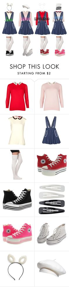 """""""Black Velvet - Red Dress Live Stage"""" by mikki102 ❤ liked on Polyvore featuring Ted Baker, Converse, Forever 21, BP. and Parkhurst"""
