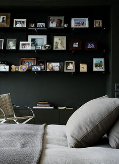 Source Unknown {black, gray and beige bedroom} by recent settlers, via Flickr