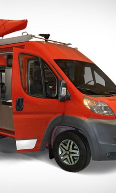 The completely redesigned 2015 Travato demolishes the Winnebago stereotype. Decidedly sexier than it predecessors, the Travato boasts brand-new front and rear styling, plus loud body-paint options (bright red!). Amazing.