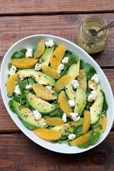 Refreshing watercress salad with avocado, orange and goat cheese with an orange tarragon vinaigrette. Watercress Salad, Avocado Salad, Raw Food Recipes, Vegetarian Recipes, Healthy Recipes, Healthy Cooking, Healthy Eating, Healthy Munchies, Healty Dinner