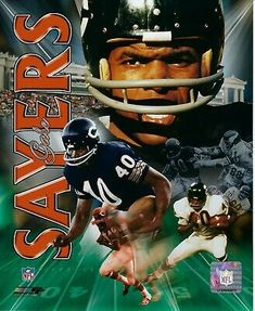 Athlon Gale Sayers Signed Chicago Bears HOF Collage 16 x 20 Photo Nfl Football Players, Bears Football, Nfl Chicago Bears, Football Season, Football Baby, Nfl Bears, Football Helmets, Baseball, Gale Sayers