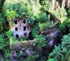 Vallone dei Mulini (Italy) - The history of this place dates back to 37,000 years ago when the locals used to grind grain in the area. It is considered one of the most enchanting views of the Sorrento Peninsula. Discover more unique travel inspiration on www.mapiac.com !
