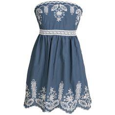 Uttam Sacha Strapless Sun Dress found on Polyvore