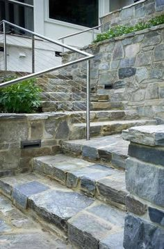 Falcon mist building stone house front and steps