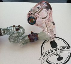 Glass Art Pipe with Colorado Flag Leaf Marble #glassart #glasspipe #Colorado