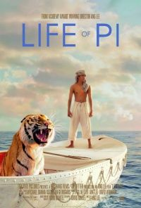 Life of Pi (2012) A twist in the plot at the end suggests to the viewer that full fledged myth brought to life can be needed to cope with the void - and that this, like religion or faith, is essential to life for people, who relate to other animals like gods and viceversa.