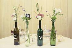 Diy alternative wedding table decorations