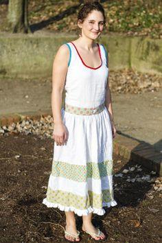DIY - Einfaches Sommerkleid mit Stufenrock nähen