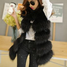 2016 fashion Lady Raccoon Fur vest women s real fur and leather winter  overcoat girl s warm outerwear 0ca658a221