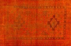 Colored Vintage Teppich - mozaiik Unikat Nr. 126TV Orange, Carpets, Rugs, Design, Color, Home Decor, Scrappy Quilts, Vintage Rugs, Handarbeit