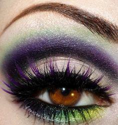 Green and purple #dramatic #eye #makeup #eyemakeup #smoky #eyes