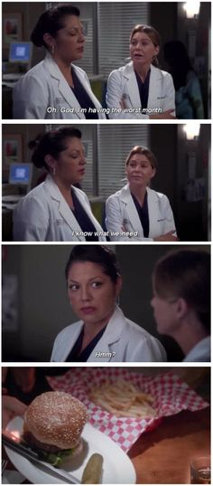 """When Callie and Mer acknowledged what they really needed to get through the day. 