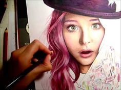 Realistic skin tutorial Chloe Moretz (prismacolor) and tips - YouTube