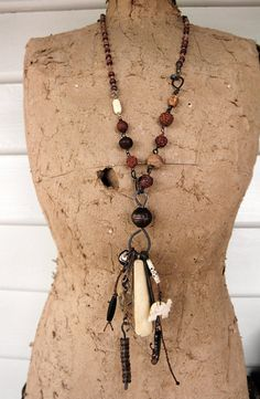 The Bone Maiden  tribal ethnographic necklace with by StarTribe, $165.00