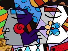 Limited Edition Fine Art Print by the Brazilian Artist Romero Britto - Paris Art Web
