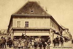 """Győr, a mai """"Tejfölös"""" köz. Louvre, Building, Travel, Viajes, Buildings, Destinations, Traveling, Trips, Construction"""