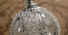 Hand Blown Glass Ornaments at discount prices    Ornament Balls 4.25″ Rhinestone Crystal Spheres (acrylic) $6     4-1/4″ wide  silver finial for hanging. decorated with rhinestones and mirrors.    Regular price $16