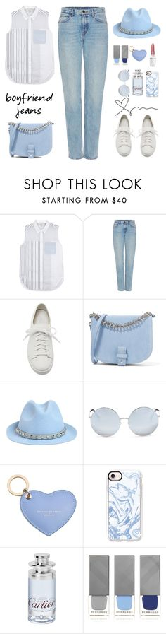 """""""Untitled #727"""" by jovana-p-com ❤ liked on Polyvore featuring 3.1 Phillip Lim, Helmut Lang, Santoni, Little Liffner, Valentino, Matthew Williamson, Aspinal of London, Casetify, Cartier and Burberry"""