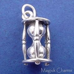 Sterling Silver .925 HOURGLASS Wizard Of Oz 3D Charm