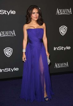 Salma Hayek attends Warner Bros. and InStyle's 16th annual Golden Globe Awards afterparty at the Beverly Hilton Hotel in Beverly Hills, Calif., on Jan. 11, 2015.