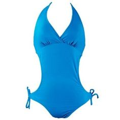 Monokini Swimsuit in Blue. Just enough coverage for a family beach trip, but still cute!