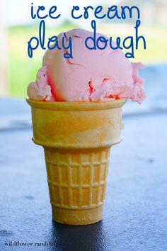 ice cream play dough {12 months of sensory dough} - Wildflower Ramblings (Ingredients Art Corn Starch)