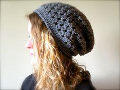 crochet+slouch+hat+pattern | PATTERN Decatur Street Hat easy crochet slouch hat ... | Crochet & K ...