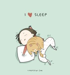 Ideas Cats And Kittens Funny Sleep I Love Cats, Crazy Cats, Cool Cats, Kitten Quotes, Gatos Cool, I Love Sleep, Cat Comics, Funny Comics, Super Cat