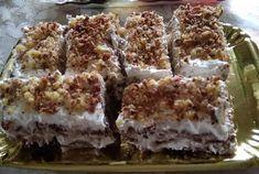 """Νόστιμη συνταγή μαγειρικής από """" Παναγιωτα Τσιορελα-ΟΙ ΧΡΥΣΟΧΕΡΕΣ / ΗΔΕΣ"""" Υλικά 2 πακέτα σαβαγιάρ 1 κουτί μορφατ 1/2 ζαχαρουχο,2 βανίλιες 1 ποτήρι ζάχαρη άχνη μισή φλιτζάνια καρύδια Μια μικρή σοκολάτα αμυγδάλου Για το σιρόπι 6 κουταλιές της σούπας κακάο 1 ποτήρι ζάχαρη 2 ποτήρια νερό 1 Krispie Treats, Rice Krispies, Cookbook Recipes, Cooking Recipes, Party Desserts, Baking, Sweet, Food, Funny"""