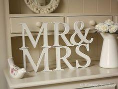Bride and Groom table idea