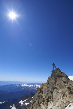 Perspective. Liz Daley takes it all in wearing her MicroTherm® StormDown™ Jacket