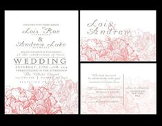 100 Sets Personalized Wedding Invitations /fully Customized To Your Wedding, Hydrangea Invite Personalised Wedding Invitations, Unique Wedding Invitations, Personalized Wedding, Invites, Pink Hydrangea Wedding, Our Wedding, Dream Wedding, Thank You Cards