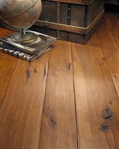 Do not like the rounded seams. Engineered Hardwood Flooring and Distressed Wood Flooring from Carlisle Wide Plank Floors Distressed Hardwood Floors, Modern Wood Floors, Pine Wood Flooring, Types Of Wood Flooring, Diy Wood Floors, Rustic Wood Floors, Engineered Hardwood Flooring, Wood Planks, Flooring Ideas
