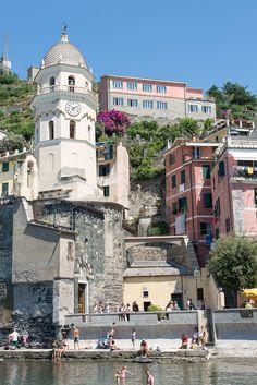 Santa Margherita d'Antiochia at Vernazza, Liguria_ Italy