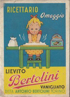 RICETTARIO OMAGGIO LIEVITO BERTOLINI TORINO ANNI '40 / '50 3-184