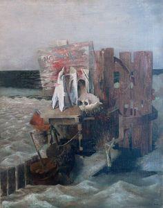 Sea Composition by Prunella Clough (British 1919-1999)