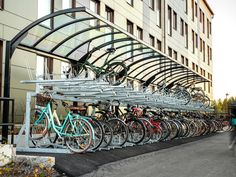 Zweden: Fietsoverkapping FalcoGamma met etage fietsenrek FalcoLevel Eco. Ferris Wheel, Fair Grounds, Stairs, Travel, Decor, Viajes, Stairway, Traveling, Staircases