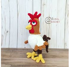 What about making your own Bartolito amigurumi? Find the easy step by step instructions for crocheting this fun rooster! Crochet Bird Patterns, Crochet Birds, Pdf Patterns, Crochet Patterns Amigurumi, Amigurumi Doll, Crochet Animals, Crochet Toys, Crochet Parrot, Crochet With Cotton Yarn