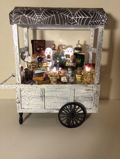 Dollhouse miniature Halloween Witch peddlers cart