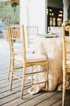 Rustic chairs... maybe with a different cushion cover?