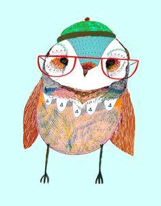 cuteness. owl. glasses. wise. smart. | RP » ..