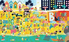 B is for beach Illustration