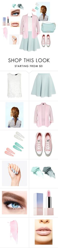 """""""Pink and Green Pastel"""" by perpendicularpurple ❤ liked on Polyvore featuring Sonia by Sonia Rykiel, City Chic, Converse, NARS Cosmetics, Maybelline, Sephora Collection, LASplash and Vince Camuto"""