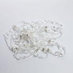 Pera doble cristal boda Lazo plata LAJC13B por DetailsandTraditions
