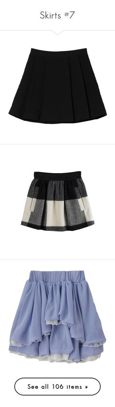 """Skirts #7"" by li-nctzen ❤ liked on Polyvore featuring skirts, bottoms, clothes - skirts, black magic, monki, wide pleated skirt, zig zag skirt, knee length pleated skirt, pleated skirt and mini skirts"