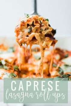 Caprese Lasagna Roll Ups | Three cheese lasagna roll ups recipe are so much fun! I love the individual servings they make, the freshness from the tomatoes, fresh mozzarella and herbs. My ENTIRE family (and that's saying something) goes nuts over these babies. || Oh So Delicioso