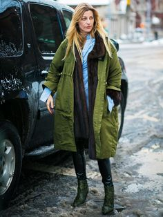 7 Outfits That Prove Parkas Are as Cool as Ever via @WhoWhatWearUK
